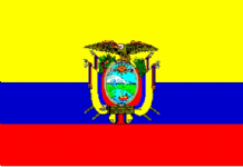 ECUADOR - HAND WAVING FLAG (MEDIUM)